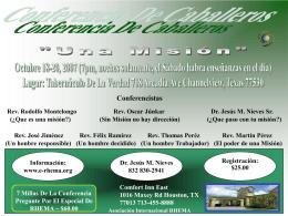 ¿Que es una misión? - Asociación Internacional RHEMA