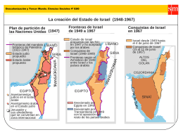 La creación del Estado de Israel (1948