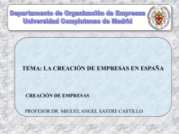 La creación de empresas en España