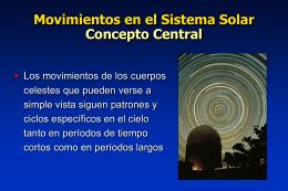 MOVIMIENTOS EN EL SISTEMA SOLAR (PARTE2)