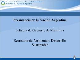 Sin título de diapositiva - Secretaría de Ambiente y Desarrollo