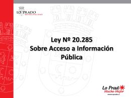 PPT Lo Prado trasparencia Enlaces
