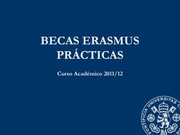 Presentación Becas Erasmus Prácticas