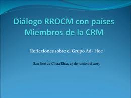 Presentación ante el Grupo Regional de Consulta sobre Migración