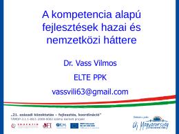 dr. Vass Vilmos - EDUCATIO Társadalmi Szolgáltató Nonprofit Kft.