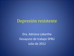 ¿cuándo estamos frente a una depresión resistente?