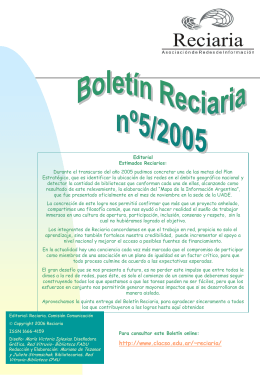 Boletin_Reciaria_5_ 2005 - Biblioteca Nacional de Maestros
