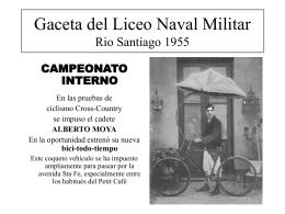 Gaceta de Rio Santiago - Centro de Graduados del Liceo Naval