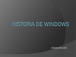HISTORIA DE Windows - centronuevaespanha