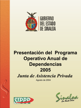 Programa de trabajo 2005