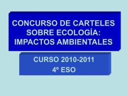 concurso de carteles sobre ecología: impactos ambientales