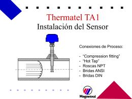 Instalación del Sensor - Termoprocesos e Instrumentacion