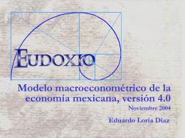 Modelo macroeconométrico de la economía mexicana, versión 4.0