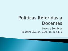 Políticas Referidas a Docentes