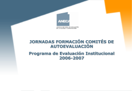 transparencias explicativas del proceso de evaluación institucional