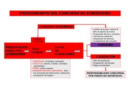 esquema de proceso concursal