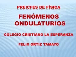 SONIDO PREICFES. - FELIX ORTIZ TAMAYO: Profe de