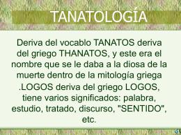 tanatologia - Justicia Forense