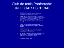 Diapositiva 1 - Club de Tenis Ponferrada