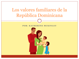 Dominican family values