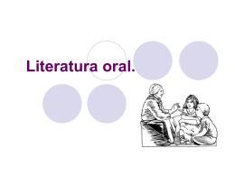 Literatura oral.