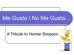 Me Gusta / No Me Gusta…