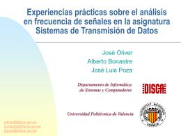 Presentación - Universidad Politécnica de Valencia