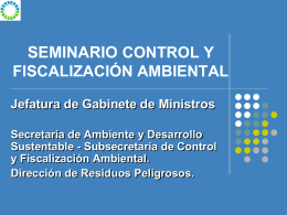Diapositiva 1 - Secretaría de Ambiente y Desarrollo Sustentable