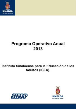 0901200602 Instituto Sinaloense para la Educación de los Adultos