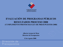Resultados Proceso 2008 - Dirección de Presupuestos