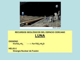 Recursos Geológicos del espacio cercano