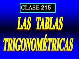Clase 215: Las Tablas Trigonométricas - CubaEduca
