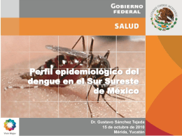 Perfíl epidemiológico del Dengue en el Ste.