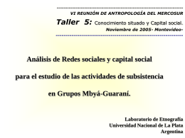 ppt - Revista Hispana para el Análisis de Redes Sociales