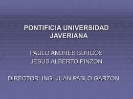 pocket pc - Trabajos de Grado | Ingeniería de Sistemas | Pontificia
