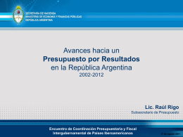 Raul Rigo - Subsecretario de Presupuesto Argentina