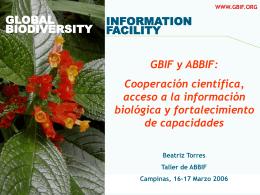 GBIF Information Architecture