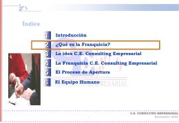 Qué es la Franquicia? - CE Consulting Empresarial