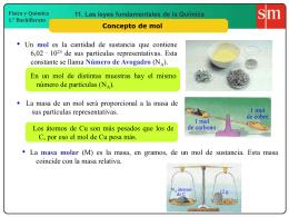 5. Concepto de mol