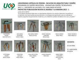 """Publicación Mesas UCP en """"El Mueble y la Madera"""""""