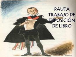PAUTA TRABAJO DE EXPOSICIÓN DE LIBRO