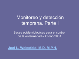 Screening and Early Detection. Part I in Spanish