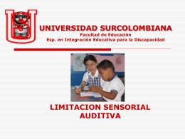 UNIVERSIDAD SURCOLOMBIANA Facultad de Educación Esp. en