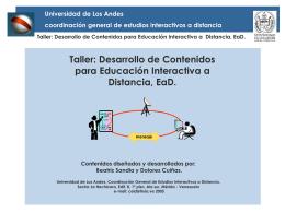 EaD - Ceidis - Universidad de Los Andes