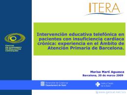 Intervención educativa telefónica en pacientes con insuficiencia