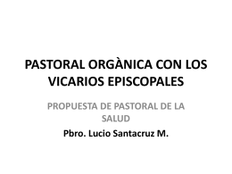 PASTORAL ORGÀNICA CON LOS VICARIOS EPISCOPALES