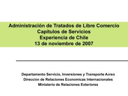 DIRECON - Chilexporta Servicios