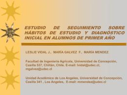 estudio de seguimiento sobre hábitos de estudio y diagnóstico