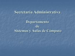 equipo de cómputo - Facultad de Filosofía y Letras