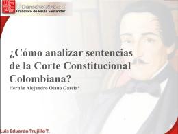¿Cómo analizar sentencias de la Corte Constitucional Colombiana?